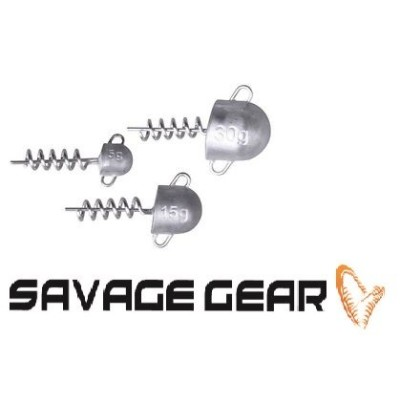 SavageGear Cork Screw Heads 15gr