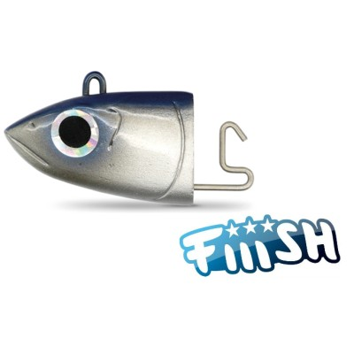 Fiiish - Black Minnow 120 Jig Head 18g Search BLEU