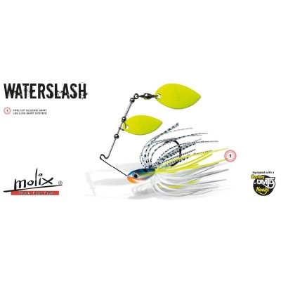 Molix - Water Slash  Spinner 1/2 oz Double Willow