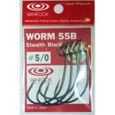 Offset Worm Hook WORM 55G Mat Green