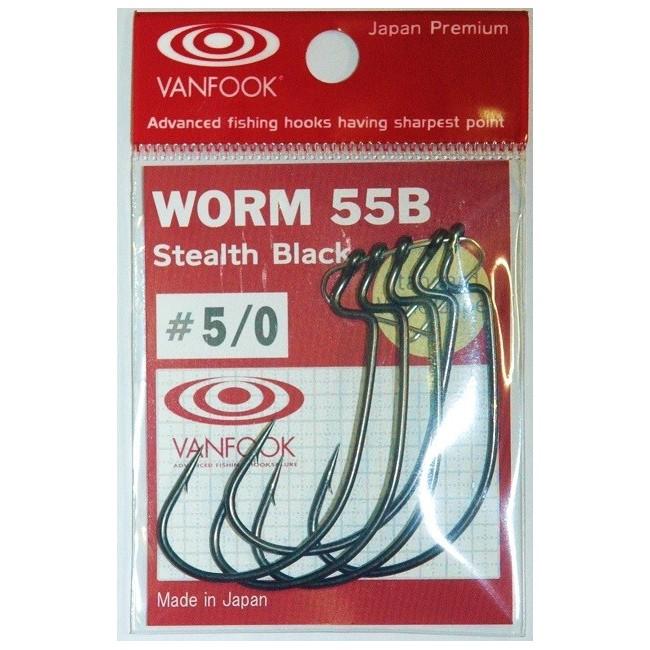 Offset Worm Hook WORM 55G Mat Green